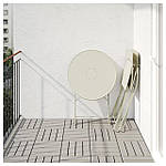 IKEA SALTHOLMEN Садовый стол и 2 раскладных стулья, бежевый, Иттерон синий  (091.838.25), фото 5