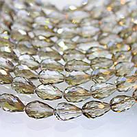 Хрустальная капля, Размер 8х11мм, Black Diamond, 1 шт