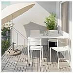 IKEA VADDO Садовый стол, белый  (802.595.14), фото 2