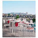 IKEA VADDO Садовый стол, белый  (802.595.14), фото 4