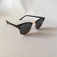 Cолнцезащитные очки Ray Ban Clubmaster черный стекло
