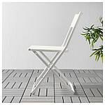 IKEA FEJAN Садовый стул, белый складной белый  (102.553.07), фото 2