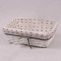 Корзинка плетеная с тканью для хранения