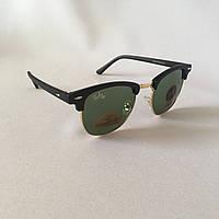 Cолнцезащитные очки Ray Ban Clubmaster зеленый стекло