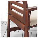 IKEA APPLARO Садовый стол и 4 стула, коричневая морилка (692.920.82), фото 2