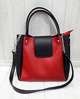 Женская сумка Michael Kors красная с черными вставками