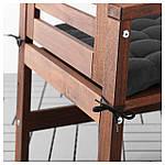 IKEA HALLO Подушка для садового кресла, черный  (402.644.85), фото 3