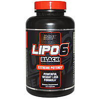 Жиросжигатель Nutrex Lipo-6 Black Yohimbine (120 капсул)