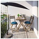 IKEA ASKHOLMEN Садовый стол и 2 раскладных стула, серо-коричневый серо-коричневая морилка, (291.835.32), фото 2