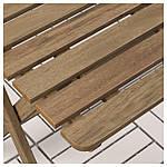 IKEA ASKHOLMEN Садовый стол и 2 раскладных стула, серо-коричневый серо-коричневая морилка, (291.835.32), фото 3