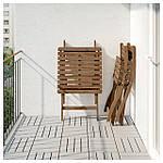 IKEA ASKHOLMEN Садовый стол и 2 раскладных стула, серо-коричневый серо-коричневая морилка, (291.835.32), фото 4