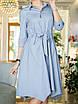 Риана Платье-рубашка светло-серое, фото 6