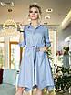 Риана Платье-рубашка светло-серое, фото 3
