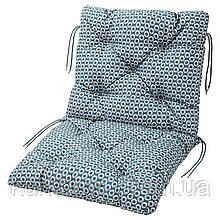 IKEA YTTERON Подушка для садового кресла, синие  (803.147.04)