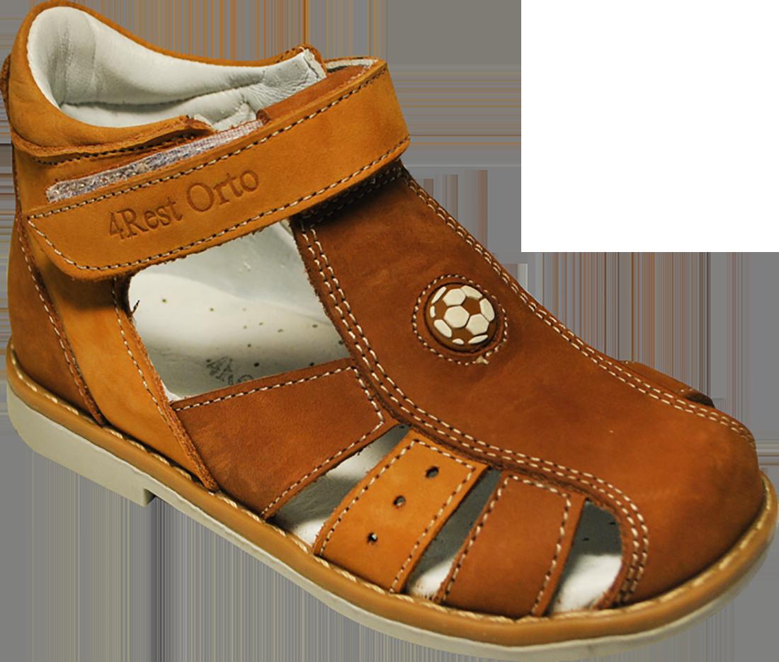 Ортопедические сандалии 06-333, коричневый, 21