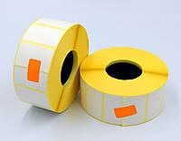 Этикетка 40*25 2000шт. вт.40 полуглянец для термотрансферных принтеров, диаметр рулона 105 мм.