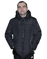 Демисезонная мужская куртка черного цвета в размере 48-62