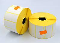Этикетка 52*25 2000 шт. вт. 25 полуглянец для термотрансферных принтеров, диаметр рулона 100 мм.