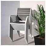 IKEA SJALLAND Садовый стол и 6 стульев, темно-серый (192.652.03), фото 4