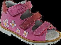 Сандалии ортопедические 06-108, цветок на фиолетовом, 21
