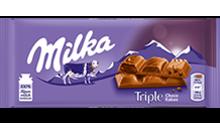Молочний шоколад Milka Triple Choco kakao 100 g