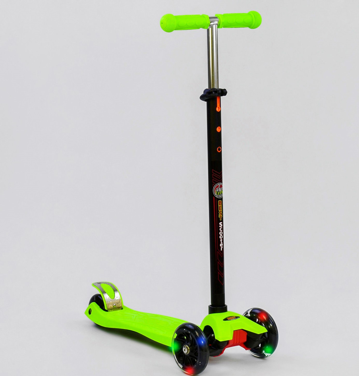 """Детский самокат MAXI  """"Best Scooter"""".Самокат с подсветкой"""