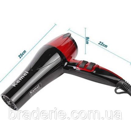 Фен для волосся Kemei KM-8893 1300W холодний і гарячий повітря, фото 2