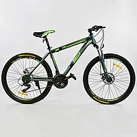 """Велосипед Спортивный CORSO 26""""дюймов 0010 - 2315 BLUE-GREEN K-Rally(1) Металл, 21 скорость, собран на 75%"""