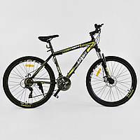 """Велосипед Спортивный CORSO 26""""дюймов JYT 001 - 2261 BLACK-YELLOW SPIRIT (1) Металл, 21 скорость, собран на 75%"""