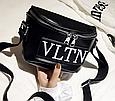 Сумка женская кросс-боди Valentino (черная), фото 2