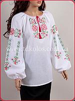Женская вышитая рубашка «Купава красная»