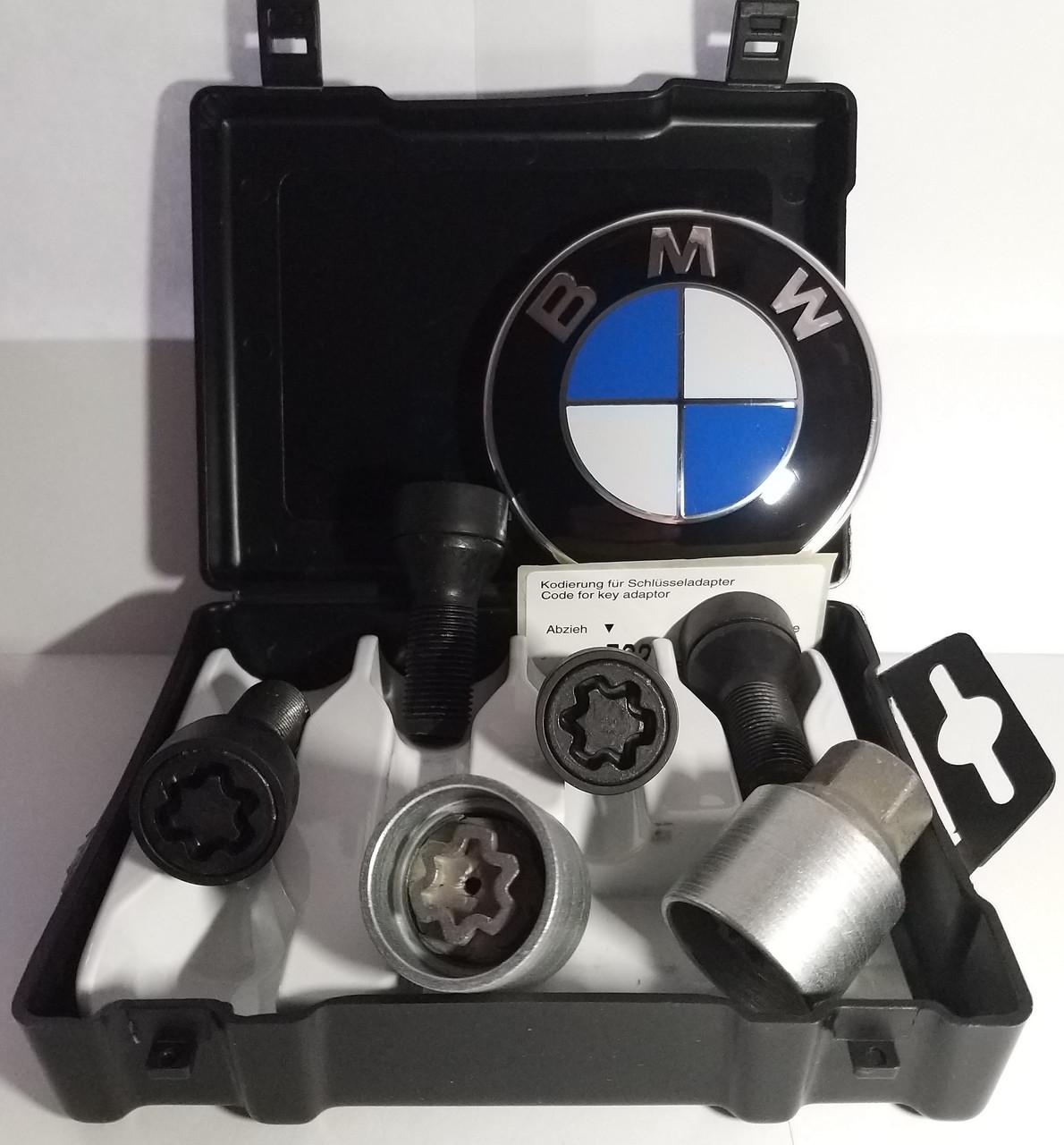 Секретные болты Farad Sicustar BVN728 черные для BMW X5, X6 и Mini. Болт М14х1,25 2 ключа