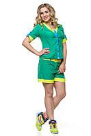 Яркий женский костюм летний