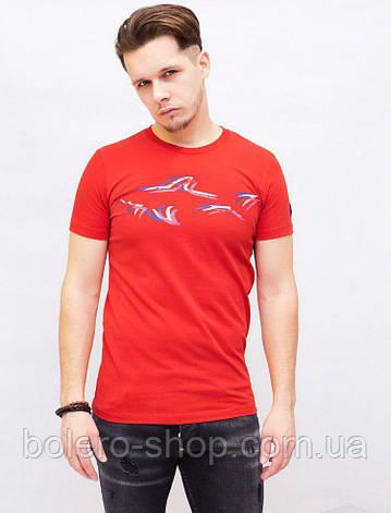 Футболка мужская Paul Shark красная, фото 2