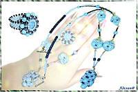 Купить ювелирное украшение с бирюзой и агатом