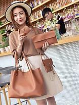 Оригинальный набор женских сумок для модных девушек 4в1 Сумка-баула, клатч, сумочка, визитница, фото 2