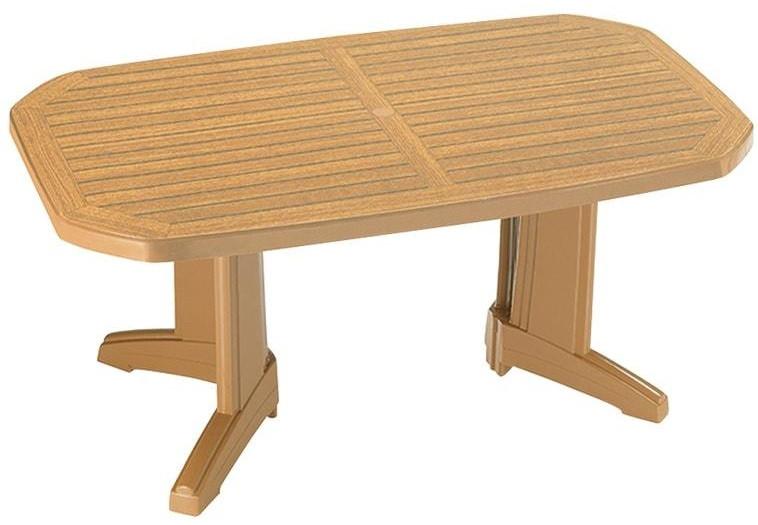 """Дизайнерский садовый стол Laguna 100*65 ТМ """"Papatya"""""""