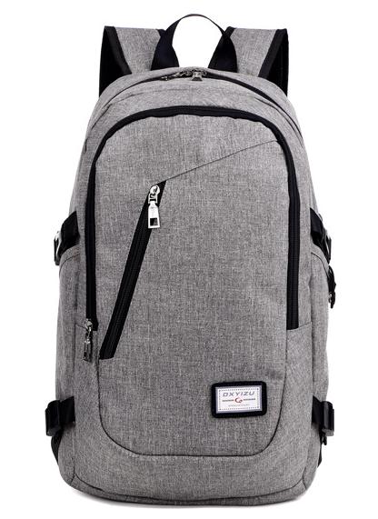 Рюкзак городской спортивный с USB 25 л, серый