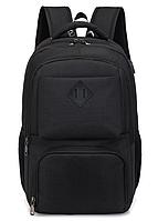 Рюкзак городской спортивный с USB 28 л, черный, фото 1