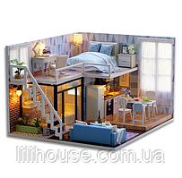 """DIY RoomBox. Кукольный домик, набор-конструктор """"Blue Times"""" - 24.5*20.5*15.5"""