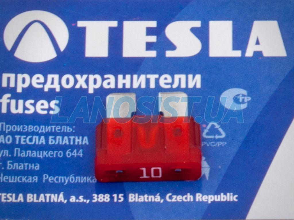 Предохранитель флажковый ATO 10А Tesla FT10A.