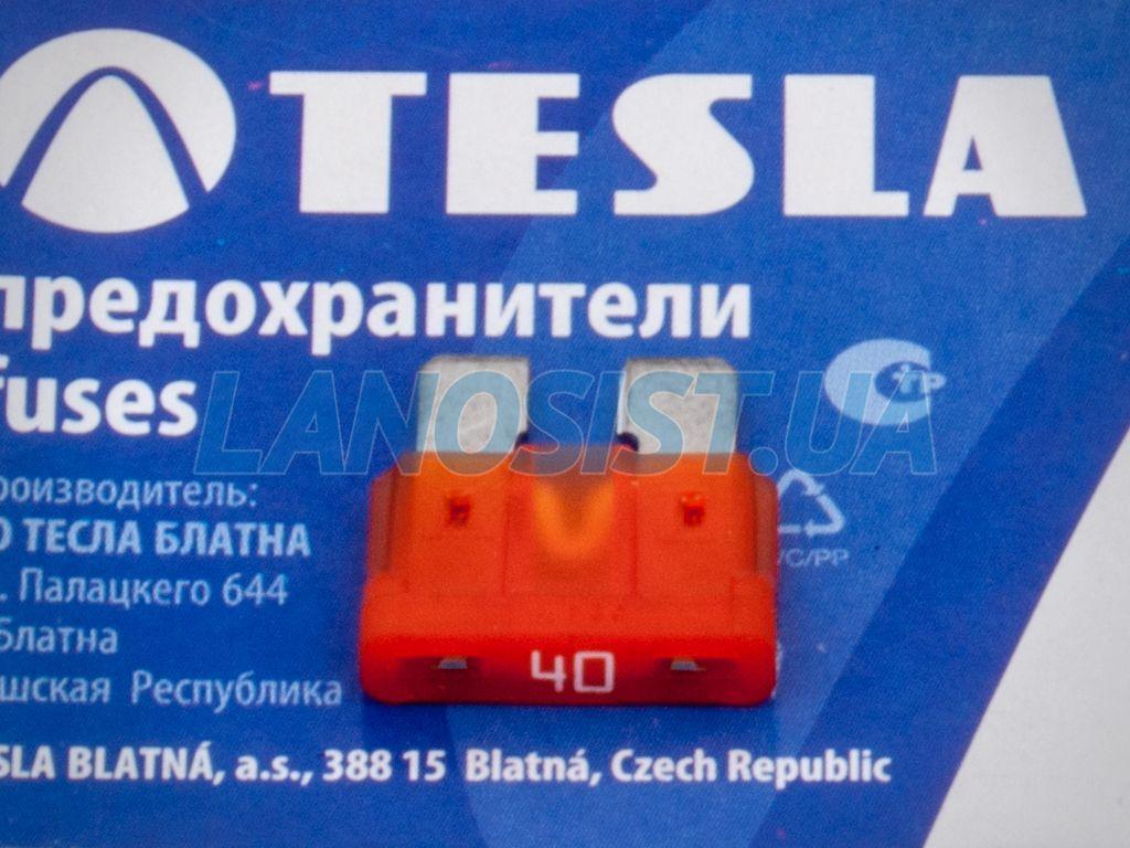 Предохранитель флажковый ATO 40А Tesla FT40A.