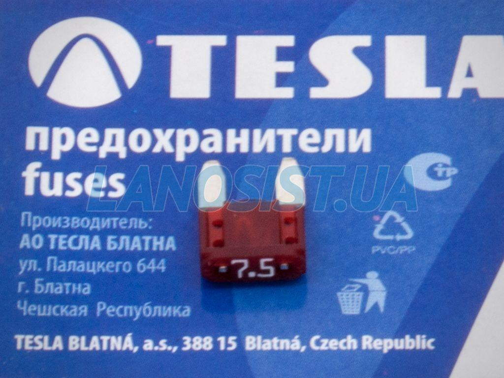 Предохранитель флажковый MINI 7.5А Tesla FN75A.
