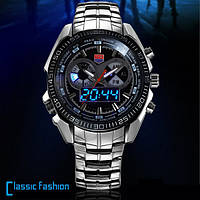 Мужские водонепроницаемые часы TVG 468. Качественные часы. Нержавеющий корпус. Интернет магазин. Код: КЧТ4
