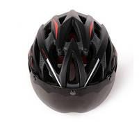 Велошлем + 2 съемные линзы + козырек.