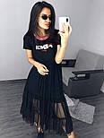 Легке плаття з фатином Fendi, фото 5