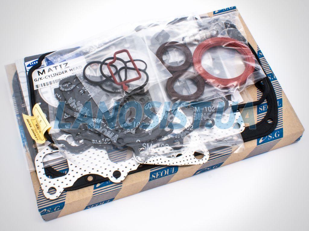 Прокладки двигателя Матиз 0.8 Seoul 93740053.
