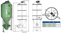 Вертикальный смеситель комбикорма FAM/FAV