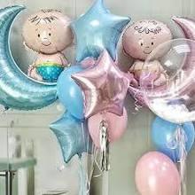 Кульки з гелієм для хрестин та зустрічі з полового будинку
