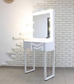 Место визажиста Alita ДСП Белое ручка Круглая 10 ламп, 0,800 мм (Markson TM)